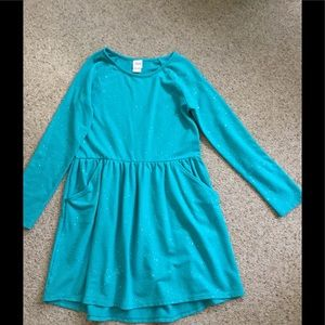 Girls 10-12 tourquoise dress with glitter